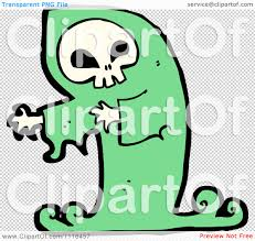 green halloween background clipart green halloween spook skull ghost royalty free vector