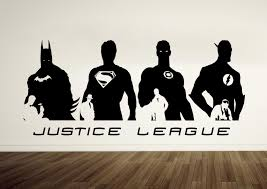 wall decal amazing justice league wall decals superman wall
