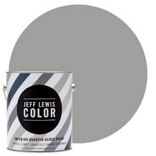 Interior Paint Colors Home Depot by Jeff Lewis Color 1 Gal Jlc414 Gravel Quarter Gloss Ultra Low Voc