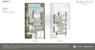 floor plans sidra dubai hills estate by emaar