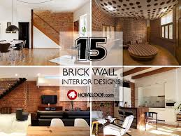 wall interior designs for home brick wall interior design 15 character ideas and palettes