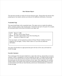business assessment report template 17 business report exles sles