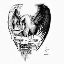 carpe diem and eagle design