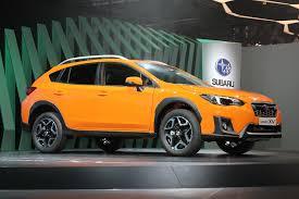orange subaru crosstrek 2018 subaru crosstrek debuts in geneva automobile magazine