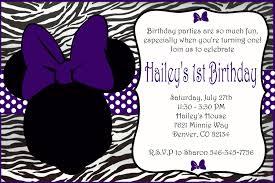 Minnie Mouse Invitation Card Purple Minnie Mouse Birthday Card On Handmade Artists U0027 Shop