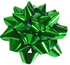 green gift bow transparent green christmas bow festival collections