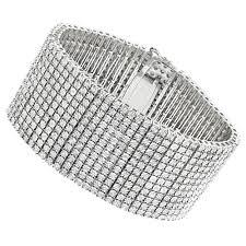 silver cuff bracelet with images Silver mens diamond cuff bracelets 2 carat 12 row tennis bracelet jpg