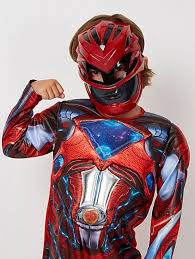 power rangers red ranger fancy dress costume kids george at asda