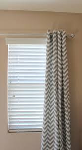 Grommet Chevron Curtains Pair Of Designer Custom Curtain Panels 50 X 96 Grey White Zig Zag