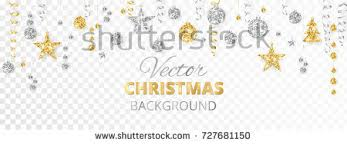banner sparkling glitter ornaments isolated stock vector