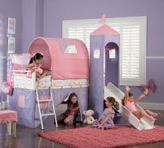 What Is Twin Size Bed by Powell Princess Castle Twin Size Tent Bunk Bed With Slide 374 069