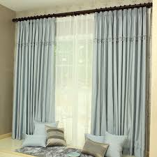 Blue Grey Curtains Bedroom Decortaive Polyester Blue Grey Curtains