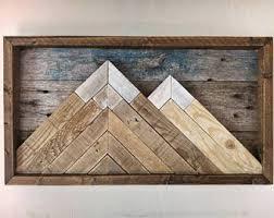 mountain wall wood wooden mountain etsy
