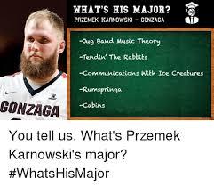 Communication Major Meme - gonzaga what s his major przemek karnowski gonzaga lid pug band