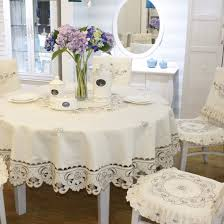 What Size Tablecloth For 60 Inch Round Table Amazon Com Brown Flower Embroidered Lace Dark White Cream