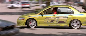 mitsubishi evo 7 2 fast 2 furious image brian u0027s evolution vii side view png the fast and the