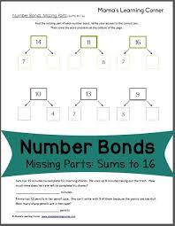 7 best number bonds images on pinterest