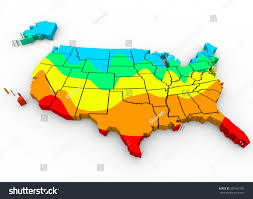 Map United State Of America by Map United States America Regions Color Stock Illustration