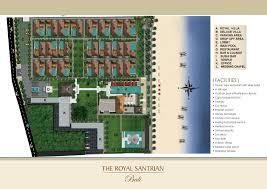 mapping layout perusahaan the royal santrian villas nusa dua bali resort map