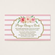 Baby Shower Instead Of A Card Bring A Book Baby Shower Book Request Gifts On Zazzle