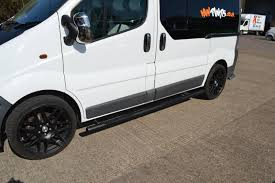 renault minivan renault trafic matt black vulcan side steps with footplates swb