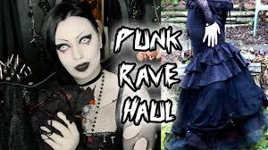punk rave store haul toxic tears youtube