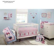 Crib Bedding Set With Bumper Minnie Mouse Crib Bedding Set With Bumper And Blanket Ebay
