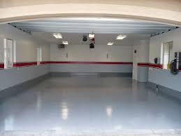 light grey with red middle garage paint scheme garage