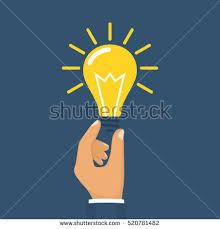 creative ideas concept hand holding pencil stock vector 553182328