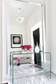 Clear Console Table Lucite Console Table Contemporary Entrance Foyer Stephani
