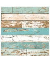 fall savings on a street prints scrap wood wallpaper in turquoise