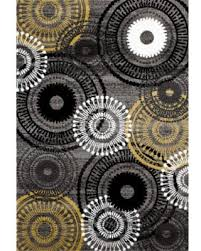 3x5 Area Rug Bargains 20 Osti Yellow Grey Polypropylene Contemporary