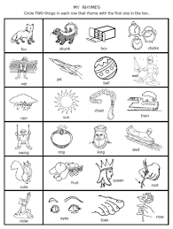 a dozen free rhyming words worksheets from printablekidstuff com