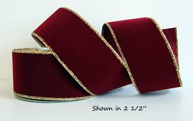 burgundy wired ribbon ribbon satin back wired edge 3 colors 4 widths