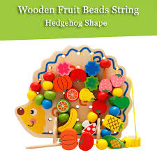 82pcs wooden hedgehog fruit beads string number and letters sales
