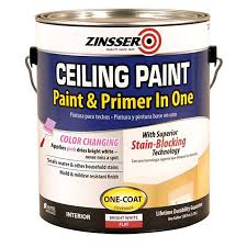 shop zinsser ceiling bright white flat water based enamel interior
