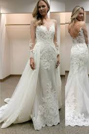 wedding dress with detachable sleeves sheath wedding dress with lace detachable