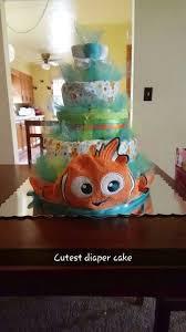más de 25 ideas increíbles sobre finding nemo diaper cake en