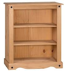 Bookcase Pine Mercers Furniture Corona Small Low Bookcase Amazon Co Uk Kitchen