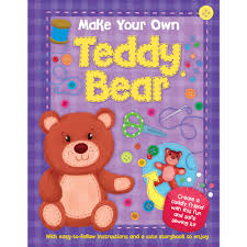 make your own teddy play book creative make your own teddy at wilko