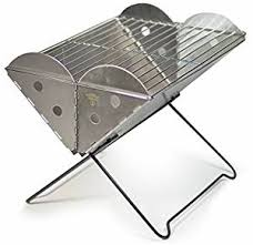 Flat Packed Portable Fire Pit From Boutique Camping Uk - uco unisex grilliput flatpack grill silver amazon co uk sports