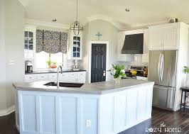 How To Paint Wooden Kitchen Cabinets Remodelaholic Diy Refinished And Painted Cabinet Reviews