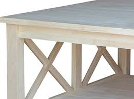 unfinished square coffee table international concepts ot 70sc hton square coffee table