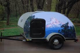 Retro Teardrop Camper Gorgeous Little Teardrop Trailer With A Custom Art Wrap Of Mt