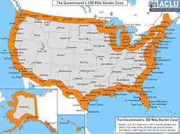 map of america with cities the constitution in the 100 mile border zone american civil