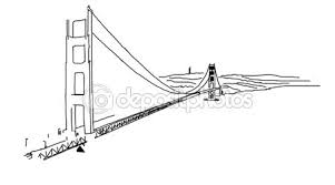 golden gate bridge outline animation u2014 stock video mail