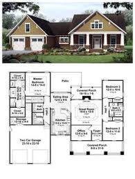 craftsman house plan 94182 total living area 1720 sq ft 3
