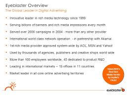 google and eyeblaster leveraging rich media to empower search