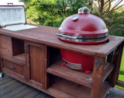 Green Egg Kitchen - custom grill tables kamado joe big green egg primo dual