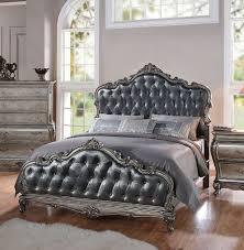 California King Sleigh Bed Acme 20534ck Chantelle Antique Platinum California King Sleigh Bed